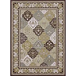 Primeval Multi/ Coffee Oriental Rug (11'2 x 14'6)