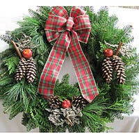 Fresh Balsam 24-inch Traditional Apple and Cinnamon Wreath
