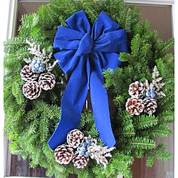 Fresh Balsam 24-inch Country Blueberry Wreath