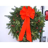 Fresh Balsam Rosehips and Cedar 24-inch Wreath