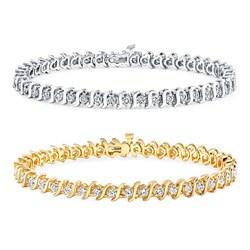 14k Gold 8ct TDW Diamond Tennis Bracelet (I-J, I1-I2)