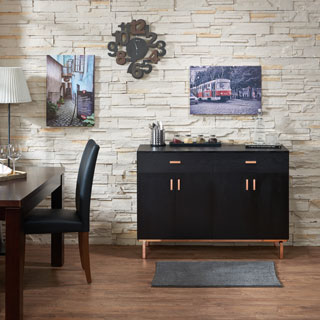 Furniture Of America Mason Black Finish Buffet/Dining Server
