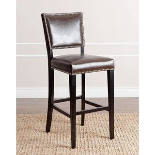 Safavieh Betheny Brown Leather 29 Inch Bar Stool Free