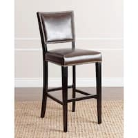 Abbyson Napa 30-inch Brown Leather Bar Stool
