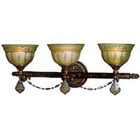 Woodbridge Lighting Lucerne 3-light Old World Bronze Bath Bar