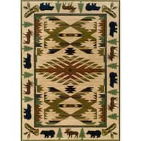 Pine Canopy Ageratum Ivory/ Green Area Rug - 10' x 13'