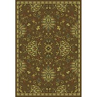 Green/ Beige Traditional Area Rug (10' x 13')