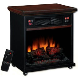 Duraflame Infrared Quartz 20-inch Rolling Fireplace Space Heater