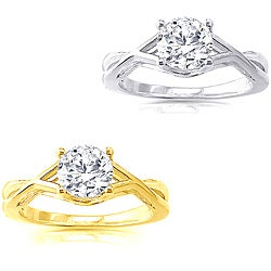 14k Gold Round 1ct TDW Solitaire Diamond Engagement Ring by Auriya
