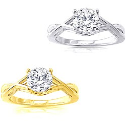 14k Gold 1 1/4 ct TDW Diamond Solitaire Engagement Ring