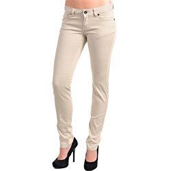 Stanzino Women's Khaki Stretch Pants - Free Shipping On Orders ...