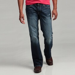 Seven7 Men's Droide Dark Bootcut Jeans