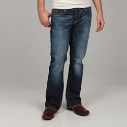 Seven7 Men's Droide Big Stitch Bootcut Jeans