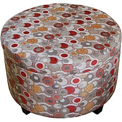 Geometric Round Storage Ottoman