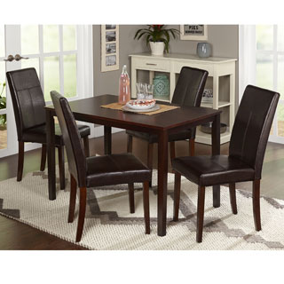 simple living bettega parson 5 piece dining set. beautiful ideas. Home Design Ideas