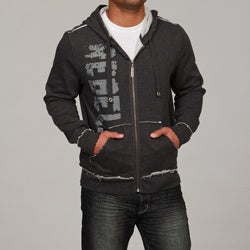 Seven7 Men's Raw Edge Zip-up Hoodie