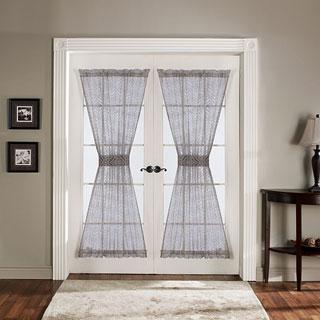 Lush Decor Antique Grey 72 Inch French Door Panels (Set Of 2)