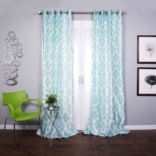 Lambrequin Zarya Grommet Flocked Curtain Panel