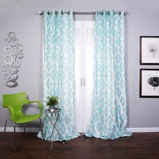 Lambrequin Zarya Grommet Flocked Curtain Panel