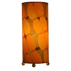 Handmade Orange Butterfly Table Lamp (Phillipines)