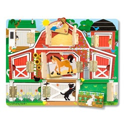 Melissa & Doug Magnetic Farm Hide and Seek Puzzle