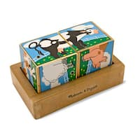 Melissa & Doug Farm Sound Blocks Puzzle - Blue/Green