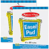 Melissa & Doug Deluxe Easel Pad Bundle (Pack of 2)