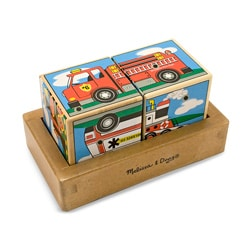 Melissa & Doug Vehicles Sound Blocks Puzzle