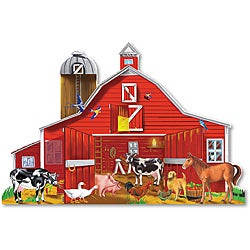 Melissa & Doug 32-piece Farm Friends Floor Puzzle Set