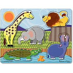 Melissa & Doug Zoo Animals Touch and Feel Puzzle - Thumbnail 0