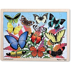 Melissa & Doug Butterfly Garden Wooden Jigsaw Puzzle - 48pc - Thumbnail 0
