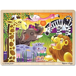 Melissa & Doug African Plains Jigsaw (24 pc) - Thumbnail 0