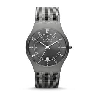 Skagen Men's 233XLTTM Grenen Grey Titanium Watch|https://ak1.ostkcdn.com/images/products/P13989381a.jpg?impolicy=medium