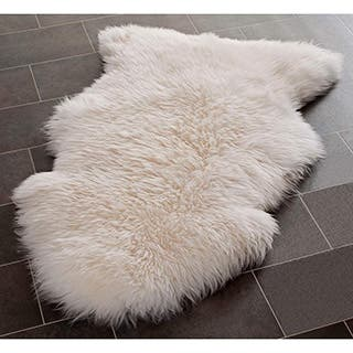 Silver Orchid Rus Natural Pelt Sheepskin Wool White Rug 2