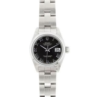 Pre-owned Rolex Women's Model 69160 Datejust 26mm Stainless Steel Black Roman Dial Watch|https://ak1.ostkcdn.com/images/products/P13993555a.jpg?impolicy=medium