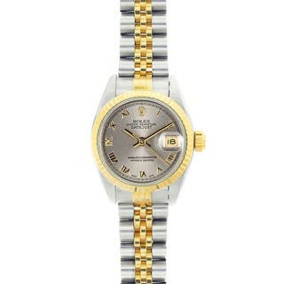 Pre-owned Rolex Women's Datejust Two-Tone Grey Roman Dial Watch|https://ak1.ostkcdn.com/images/products/P13993610a.jpg?impolicy=medium