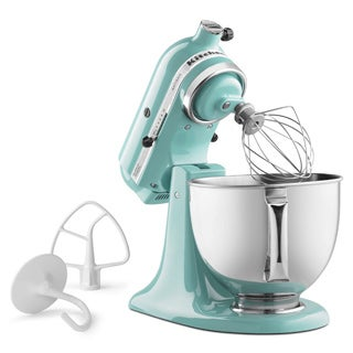 KitchenAid KSM150PSAQ Aqua Sky 5-quart Artisan Tilt-Head Stand Mixer with $30 Rebate