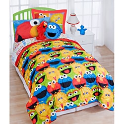 Shop Sesame Street Chalk Twin Size 5 Piece Bed In A Bag