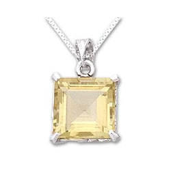 Handmade Sterling Silver 'Summer Waltz' Citrine Necklace (India)