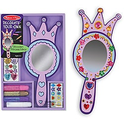Melissa & Doug DYO Wooden Princess Mirror