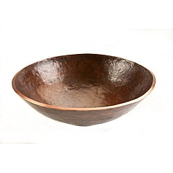 Round Hand-forged Old World Copper Vessel Sink