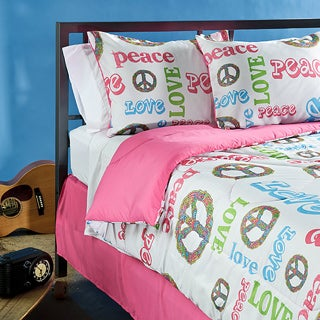 Peace Time 4-piece Full-size Comforter Set
