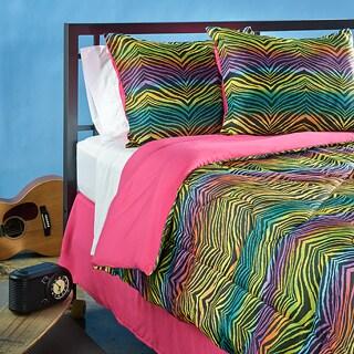 Funky Zebra Twin-size 3-piece Comforter Set