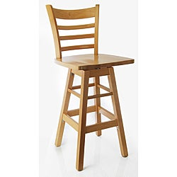 Swivel Ladder Natural Barstool