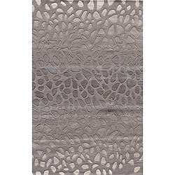 "Ombre Stones Silver Hand-Tufted Wool Rug (3'6"" x 5'6"")"