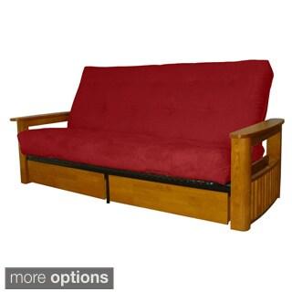 columbus microfiber suede inner spring queensize futon sofa bed sleeper