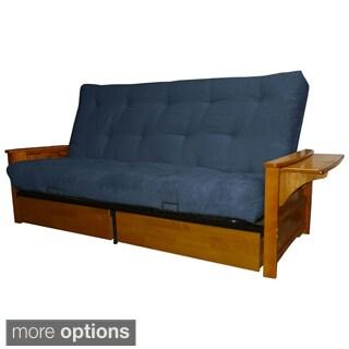 Bellevue Microfiber Suede Inner Spring Queen-size Futon Sofa Bed Sleeper