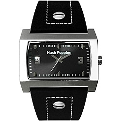 Hush Puppies Men's Black Leather Watch