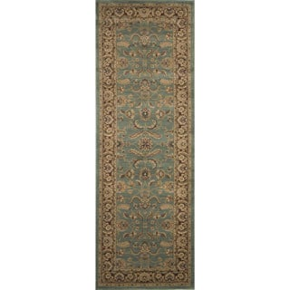 Dorchester Blue and Brown Rug (2'6 x 7'9)