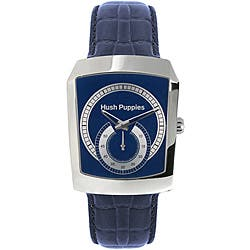 Hush Puppies Men's Stainless Steel Blue Leather Strap Watch|https://ak1.ostkcdn.com/images/products/P14018747.jpg?impolicy=medium